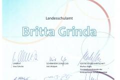 Urkunde Ehrenmitgliedschaft SC Grinda