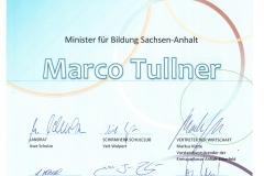 Urkunde Ehrenmitgliedschaft SC Tullner